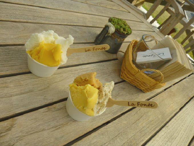 奄美の「La Fonte」♪島の本格ジェラートを白いカフェで!