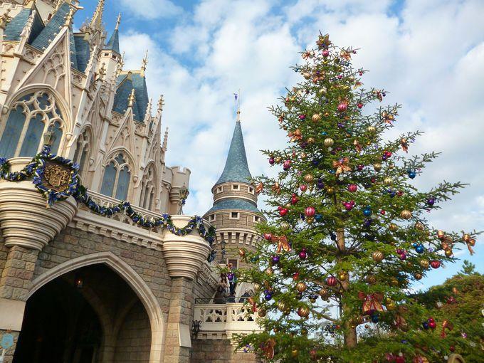 クリスマスツリーとシンデレラ城のコラボ!