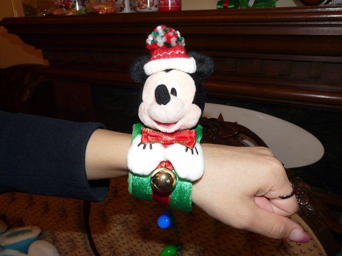 クリスマスコスチュームのミッキーマウス&ミニーマウス