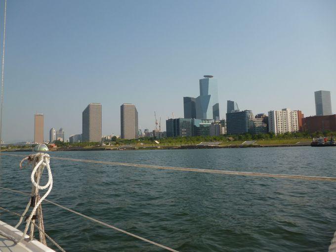 ヨットからのソウルの景色