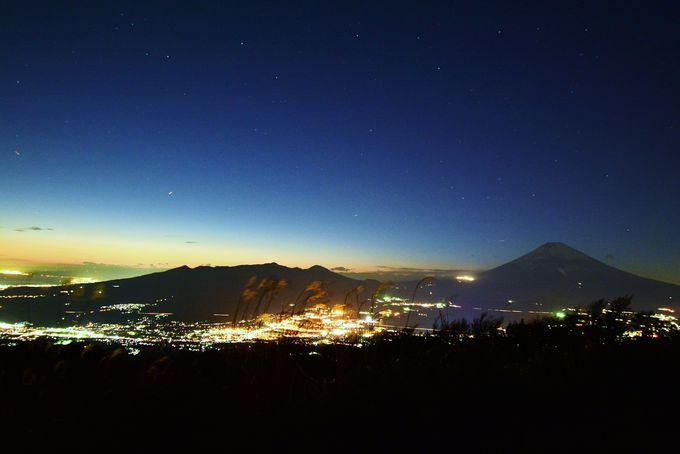 夜景と富士山!芦ノ湖スカイライン三国峠!