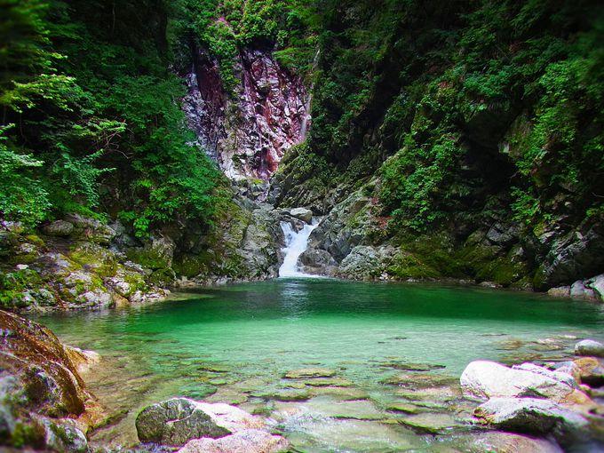 清らかな水が織りなす景観!尾白川渓谷の千ヶ淵!