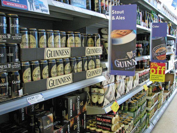 スーパーに行っても、ビールの量がスゴイ!