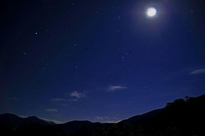 夜は星空ウォッチング。星座が探せないほどの星空!