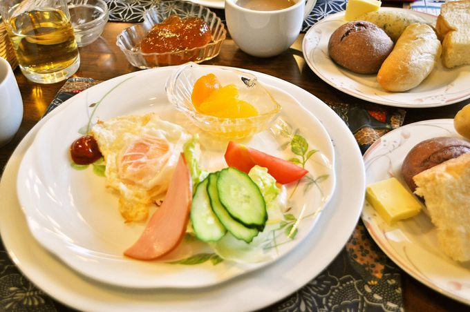 目にも鮮やかな美しい朝食も、マドンナ名物のひとつ。