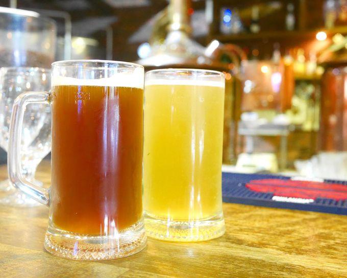できたて新鮮。自家製クラフトビールが大人気!