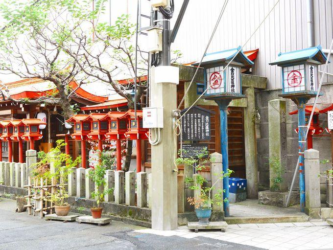 庶民繁栄のため、1859年に移設された金刀比羅神社