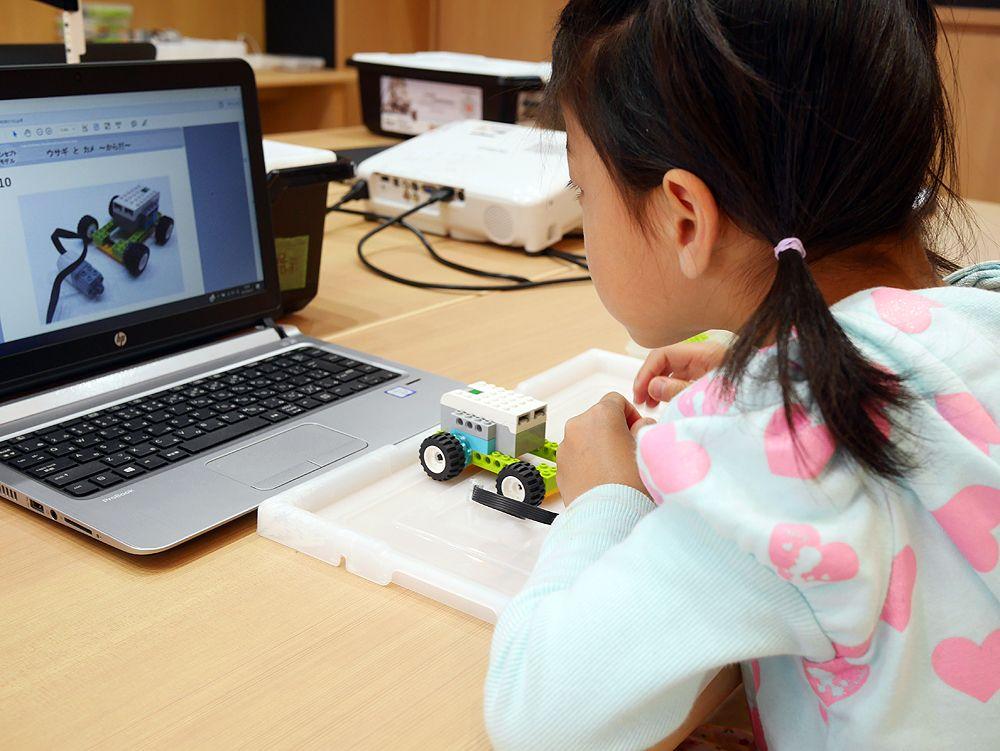 幼稚園児でも楽しめる、ロボットのアニマルレース