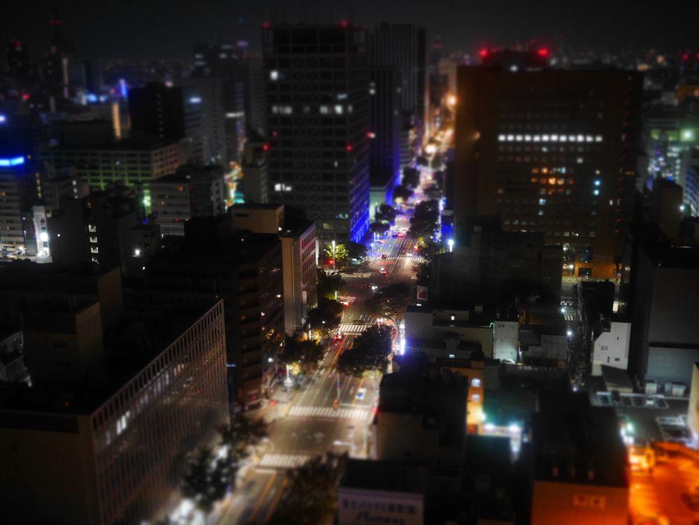 高層階の客室からの夜景は格別!