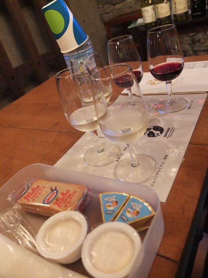 5種のワインテイスティングに挑戦!