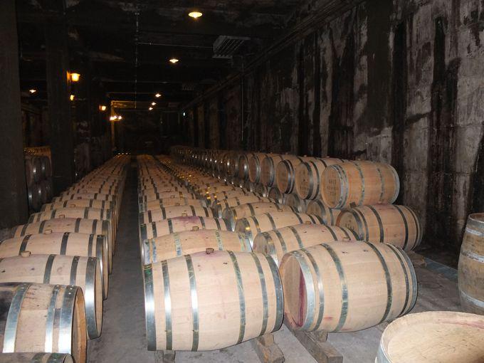 石造りのワインセラー内部を歩く!