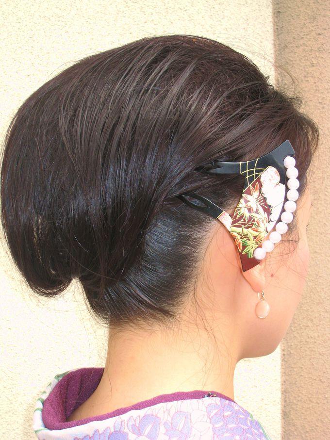 和髪をセットしてもらったら、はんなり美人の出来上がり!