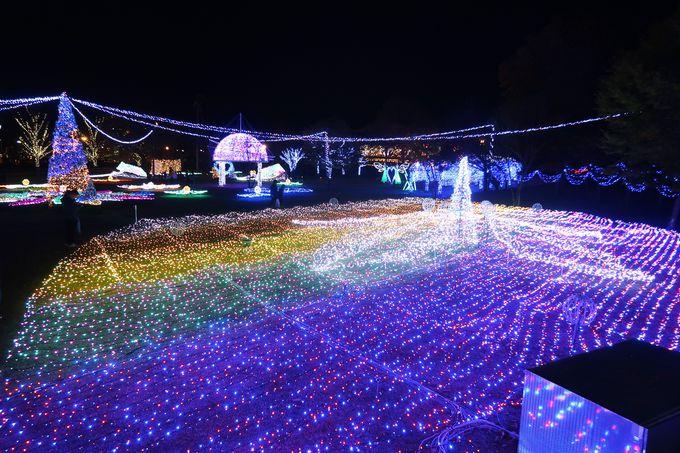 佐久平駅が星空の様にキラキラ!SAKU BLOOMイルミネーション