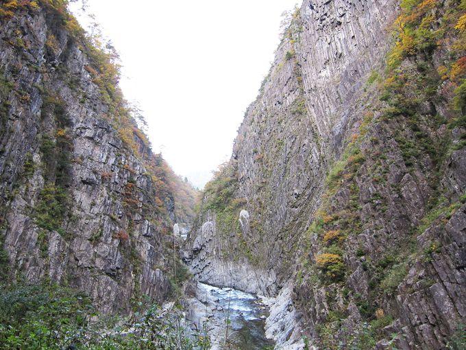 柱状節理の岩肌が美しい名勝「清津峡」
