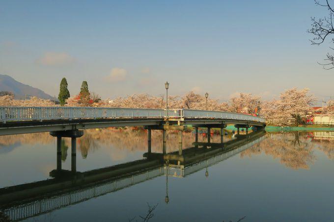 湖面が静かな「朝」は、鏡のような映り込みが美しい!
