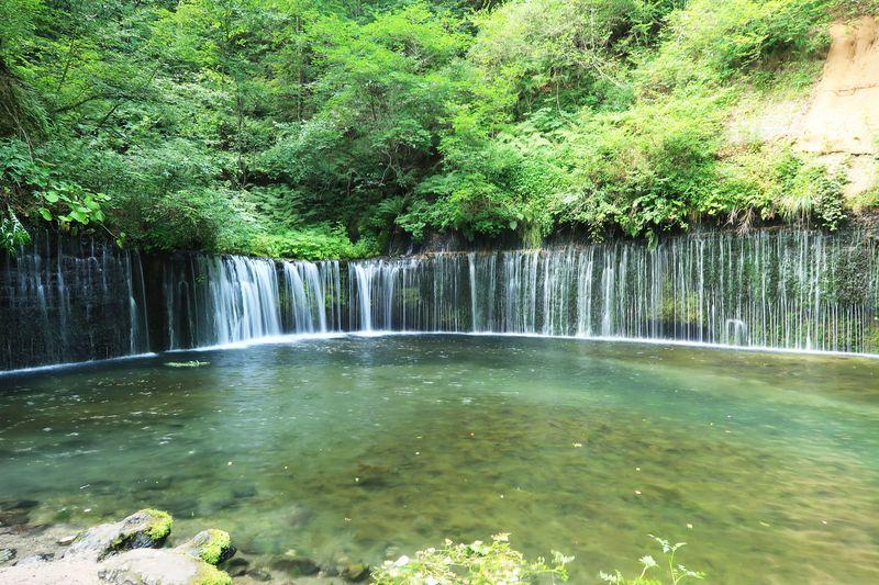 軽井沢の滝といえばココ!繊細で風情あふれる「白糸の滝」