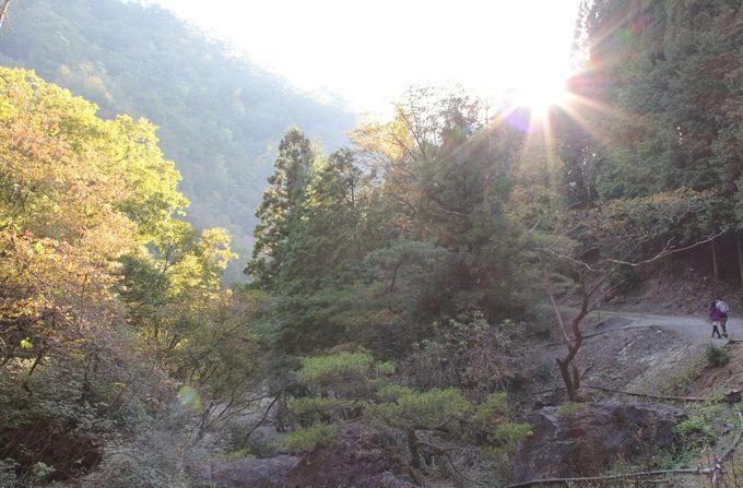 山に抱かれる素晴らしい景観。
