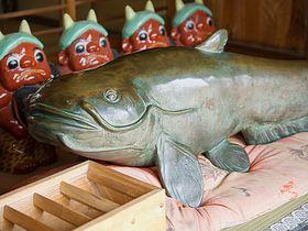 グルメの超絶料理!群馬県板倉町・雷電神社のご利益付ナマズ