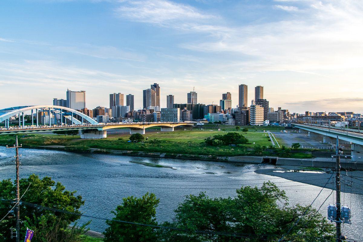 多摩川の絶景も見られる展望台