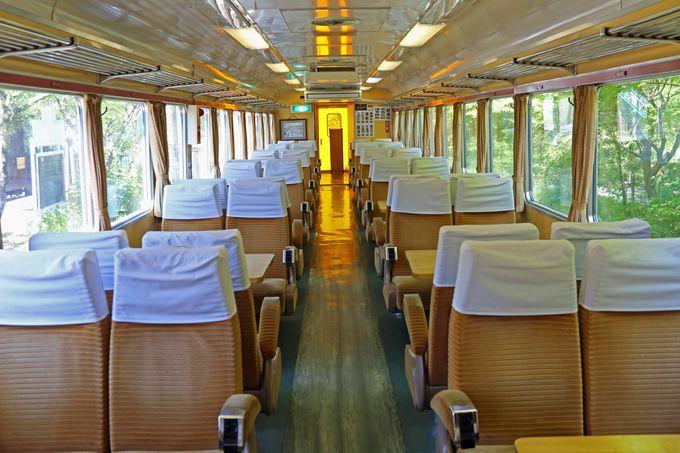 時代の最先端を行った特急電車の面影を楽しめる