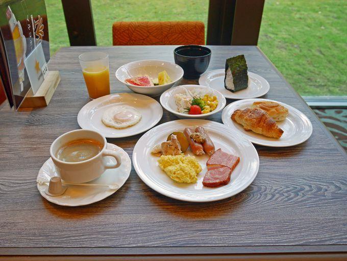 ホテルミリオーネは、豪華な朝食メニューも魅力です