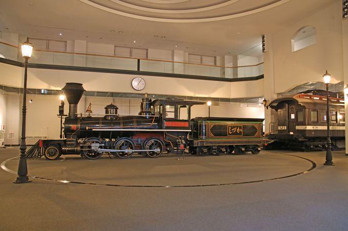 鉄道記念物、蒸気機関車「しづか号」を保存