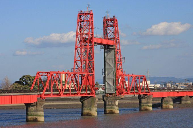 重要文化財、機械遺産に指定された筑後川昇開橋