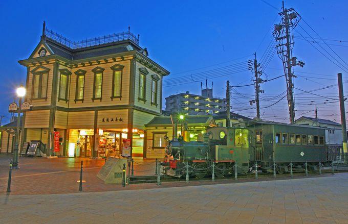 道後温泉駅にもクラシカルな駅舎が