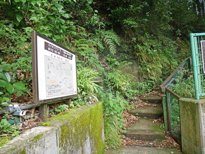 コースの起点となる箱根登山鉄道塔ノ沢駅