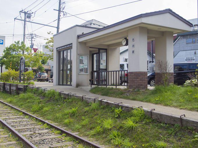 小樽美術館に隣接している、手宮線跡の「色内駅」