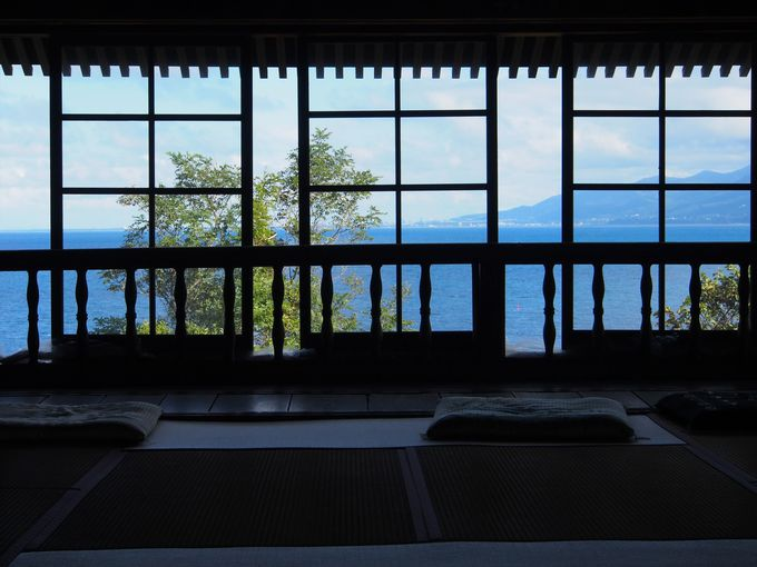 ホッと一息つける、小樽市鰊御殿の2階畳部屋
