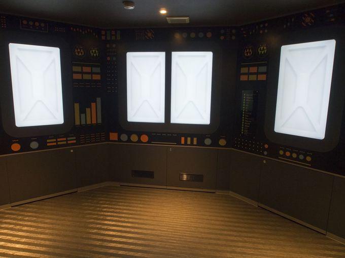 数万kmのスケールを模した「地球エレベーター」
