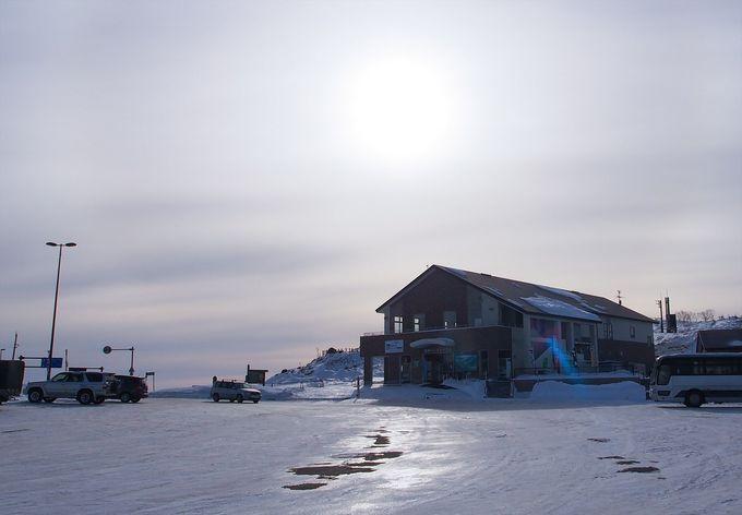 冬の北海道は路面が危険!美幌峠への道中はアイスバーンに要注意