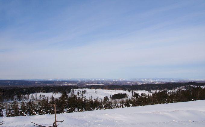 美幌町側の雪景色も、北国らしくて魅力的