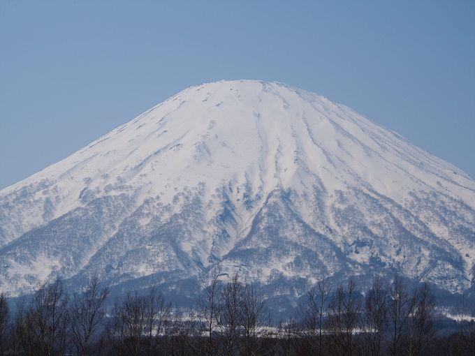 積雪の羊蹄山が見られる時期