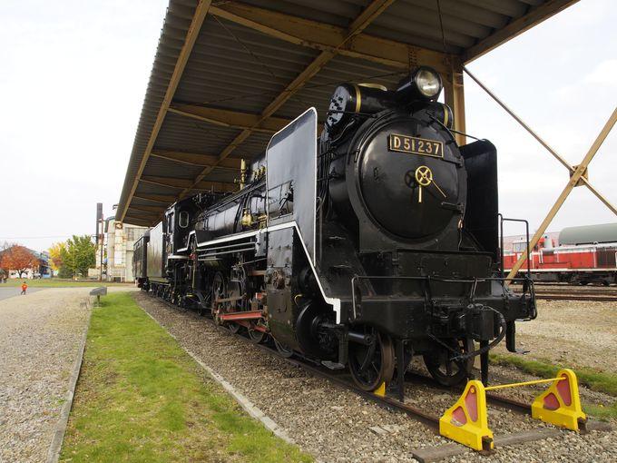 北海道鉄道技術館の建物とは離れた場所にも、SLの屋外展示が