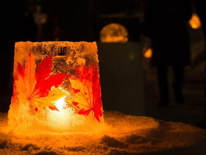 寒い季節に心が暖かくなるスノーキャンドル