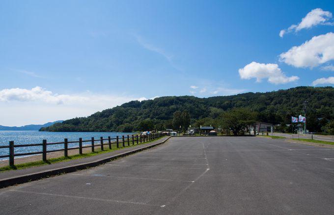 洞爺湖の北側にある浮見堂公園