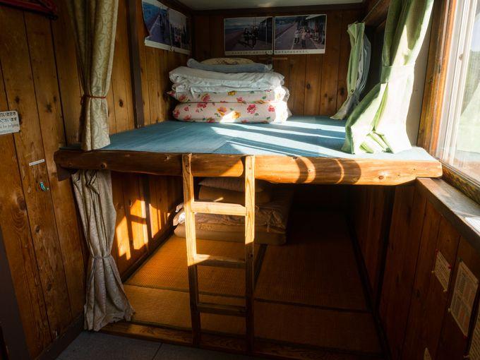 夜を明かすのがどこか楽しくなる、「駅の宿ひらふ」の寝床