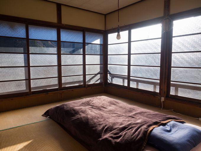冬のゲストハウス錦では、相部屋でなく個室での宿泊が可能