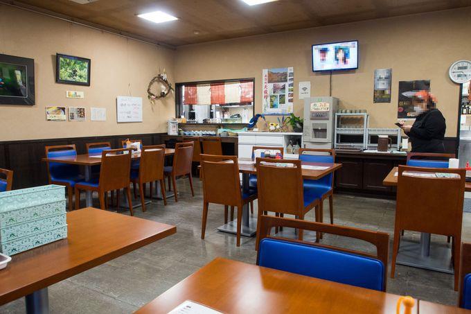 「レストラン龍泉」で、山奥とは思えない食事の時間を