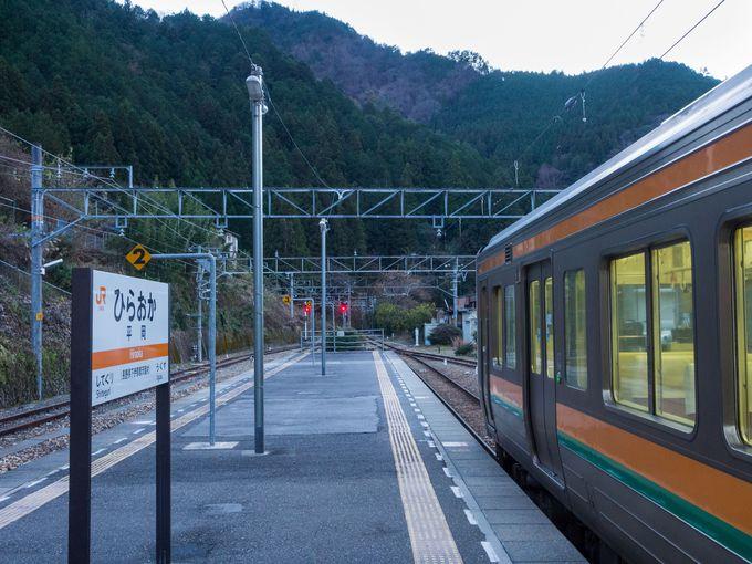 秘境路線として有名なJR飯田線の平岡駅にあるホテル