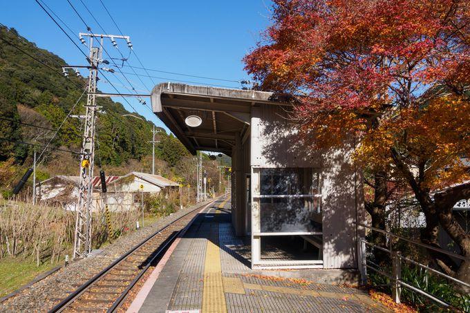 立派な木造駅舎ながら無人化されている「湯谷温泉駅」