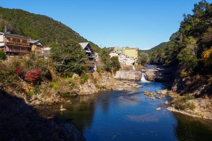 心癒される宇連川の景観