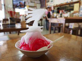 180秒で溶けちゃうアート!「米八そば」のカキ氷が美しい!