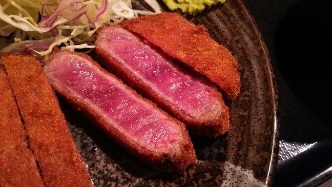 超絶レアなお肉は綺麗なピンク色
