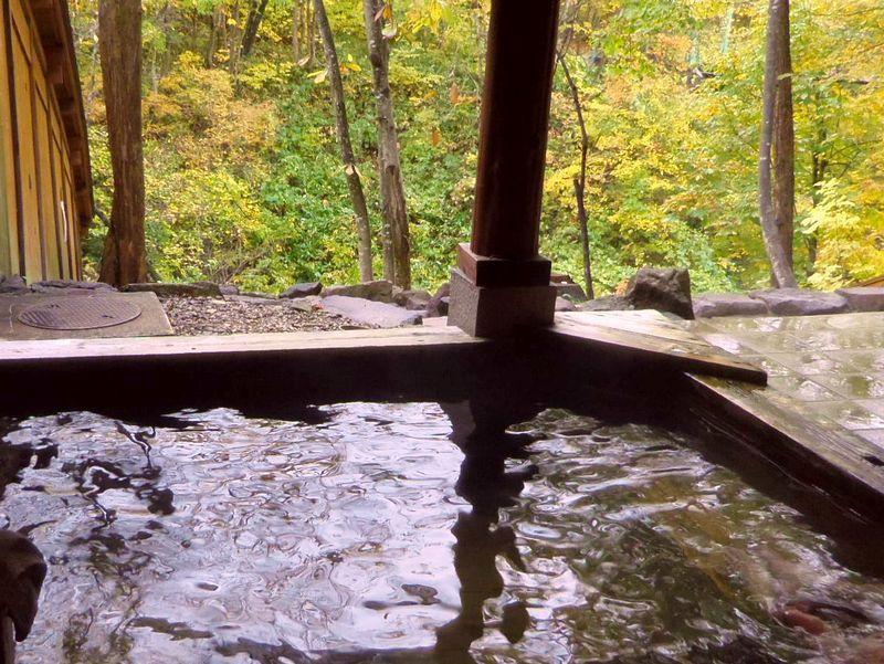 森林に囲まれた露天風呂に立ち寄り湯♪とことん山キャンプ場