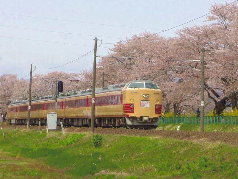 白石川堤は〜桜と鉄道を一緒に撮影する「撮り鉄」有名スポット!