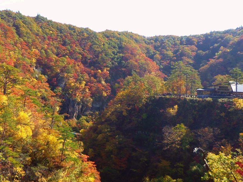 「大深沢橋」から鳴子峡の紅葉を見下ろしてみよう