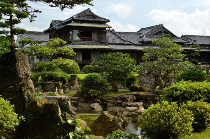 個人宅離れのお庭。名勝「旧伊藤傳右エ門氏庭園」
